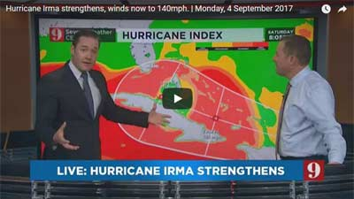 Irma remains Cat 4, 140 mph, aiming for Florida