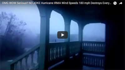 NO JOKE Hurricane IRMA Wind Speeds 180 mph Destroys Everything In Its Path