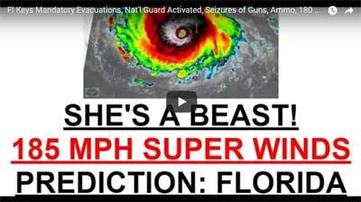 Florida Keys Mandatory Evacuations, Nat'l Guard Activated, Seizures of Guns, Ammo, 180 MPH Winds – CAT 6